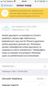 Whatsapp Sohbet Yedeği Nerede